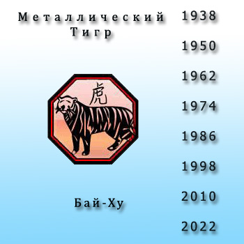 2010 год белого тигра