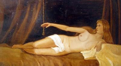 Картина Павла Малюгина - Обнажённая дама
