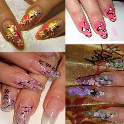 Дизайн ногтей: сакура