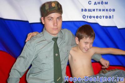 Паша с племянником Пашуней