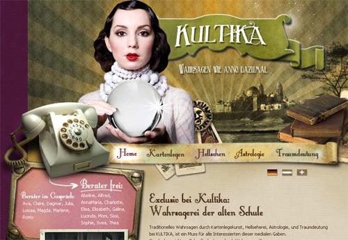 Немецкий  сайт в стиле ретро