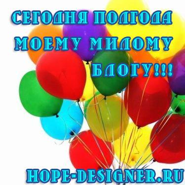 Блогу Надежда-дизайнер полгода