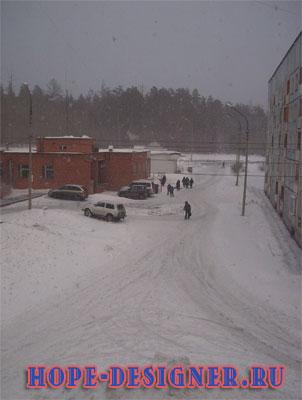 Снег весной
