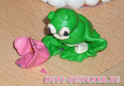 Лягушка из глины