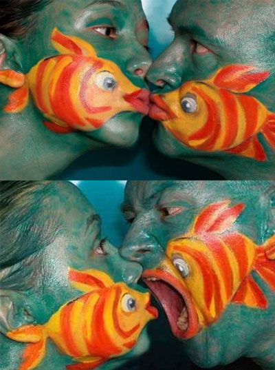 Боди арт рыбы