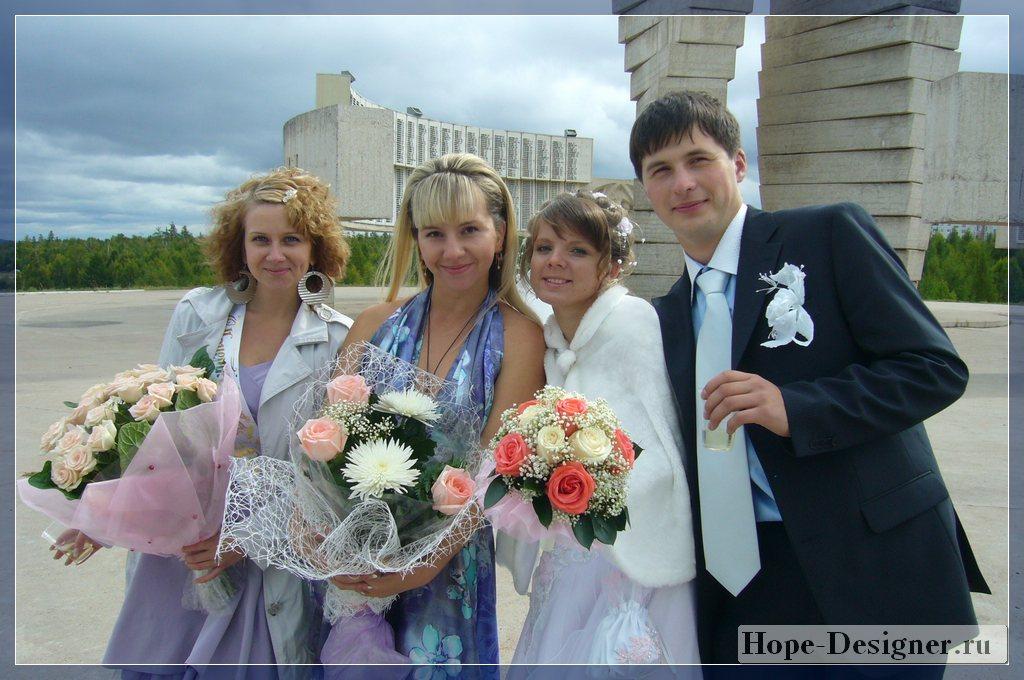 Цветы на свадьбу от родителей