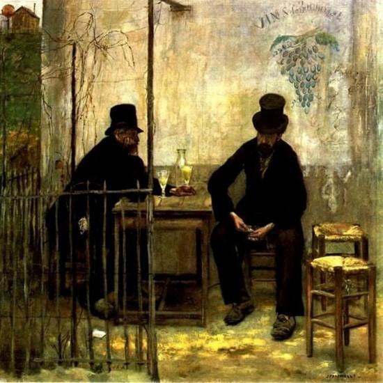 """""""Пьющие абсент"""" (Жан Франсуа Рафаэли, 1881)"""