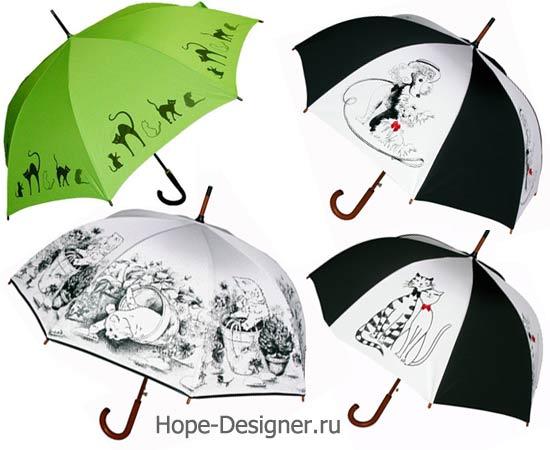 Зонтики с кошками и собачками