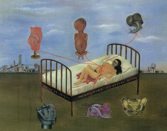"Фрида Кало ""В госпитале Генри Форда"" (1932)"