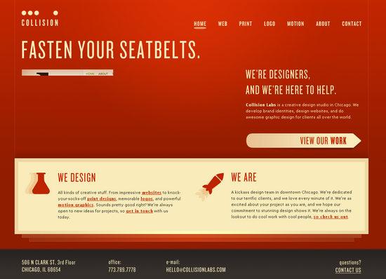 Веб-дизайн - чистый цвет