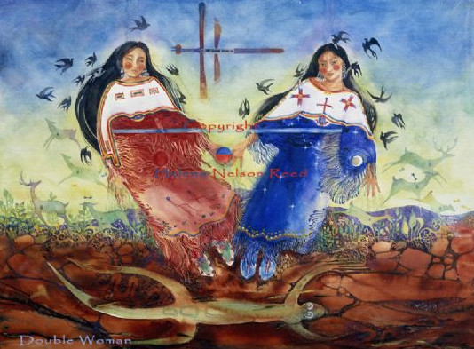 2Woman original watercolor