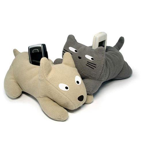 Подставки для мобильного Собачка и кот