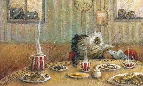 Чаепитие кота и мышки