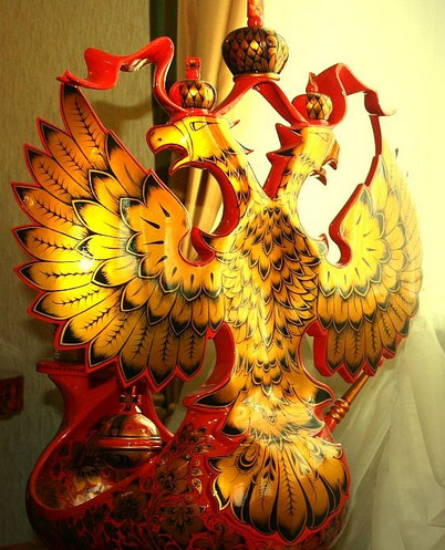 Золотая хохлома герб России
