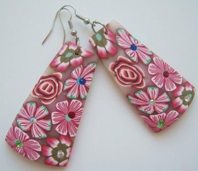 Стильные серьги с цветочным принтом