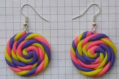 Ссладкие серьги-конфетки