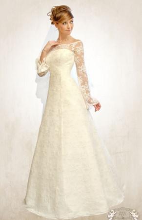 Кружевные свадебные платья с длинными рукавами (33 фотокарточки