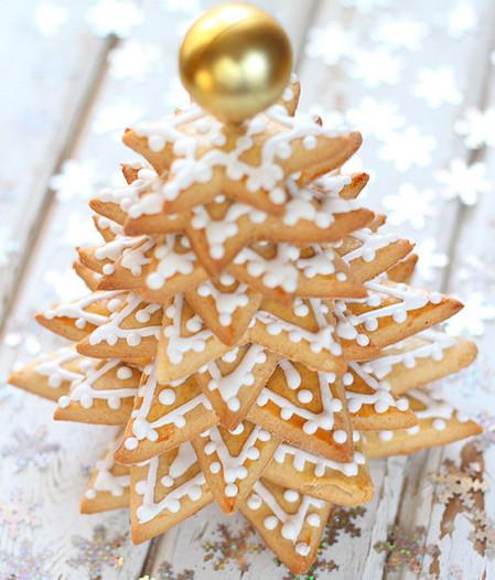 Новогодняя ёлочка из пряного печенья
