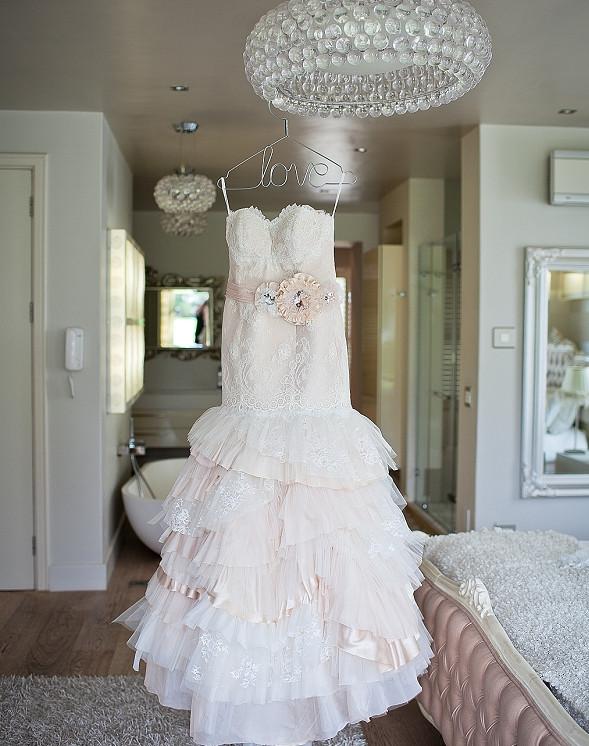 Дизайнерское свадебное платье в стиле итальянского ретро