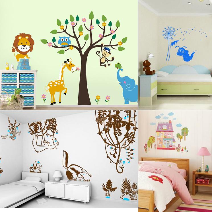 Виниловые наклейки для детской комнаты
