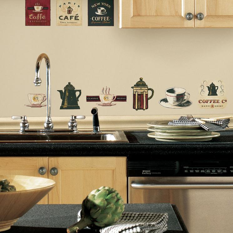Стильный дизайн кухни с использованием виниловых наклеек