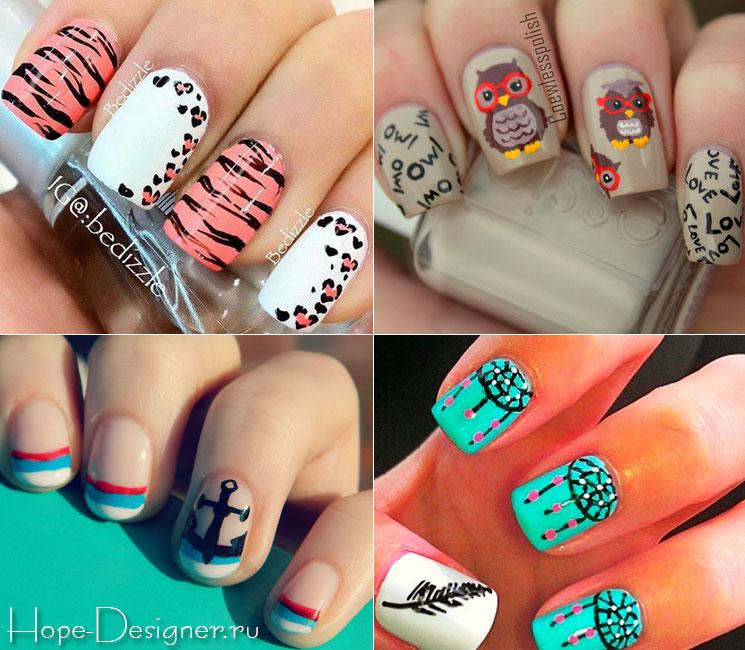 фото ногтей шеллак с рисунками