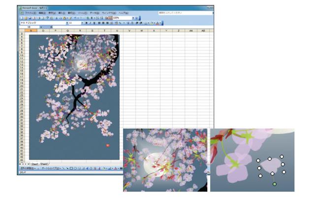 Картины японца с помощью программы Excel