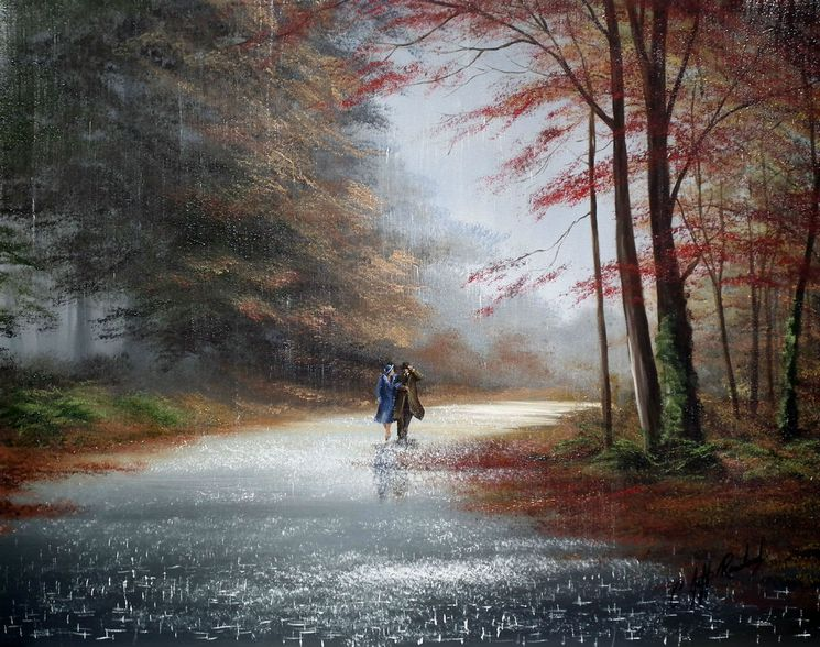 Jeff Rowland рисует дождь