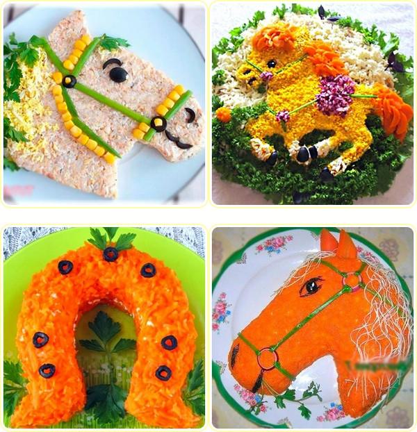 дизайн страницы салатов на Новый год 2014
