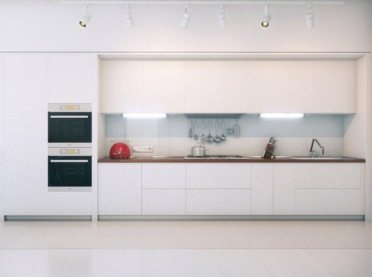 Белая кухня loft style