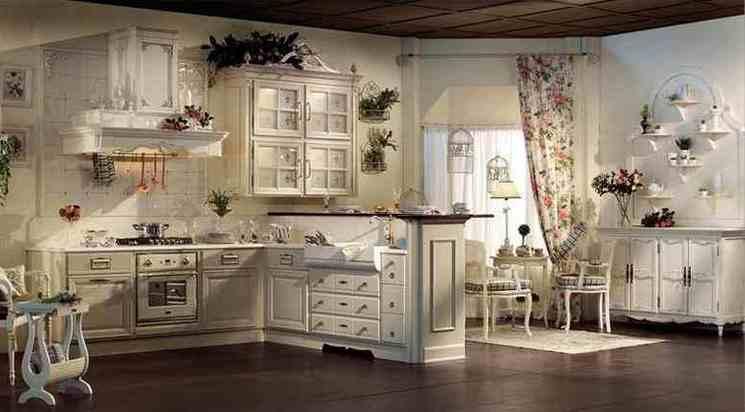 Прованс кухня в белом цвете